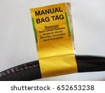 manual bag tag label for... | Shutterstock . vector #652653238