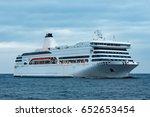 white cruise liner. passenger... | Shutterstock . vector #652653454