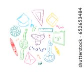 colorful hand drawn school... | Shutterstock .eps vector #652653484