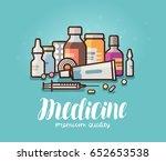 modern medicine  pharmacy... | Shutterstock .eps vector #652653538