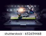 football hottest moments. mixed ... | Shutterstock . vector #652654468