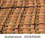 tiles over roof  | Shutterstock . vector #652654600
