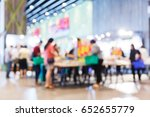 abstract blur people shopping... | Shutterstock . vector #652655779