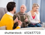 aged parents arguing with... | Shutterstock . vector #652657723