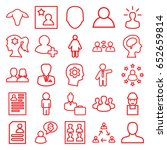 profile icons set. set of 25... | Shutterstock .eps vector #652659814
