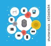 flat monitor  palmtop  system... | Shutterstock .eps vector #652660654