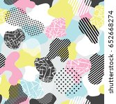 vector abstract seamless...   Shutterstock .eps vector #652668274