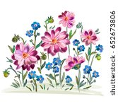 illustration of watercolor... | Shutterstock . vector #652673806