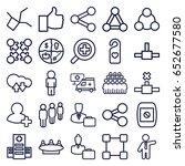 social icons set. set of 25...   Shutterstock .eps vector #652677580