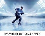 professional ice hockey player... | Shutterstock . vector #652677964