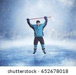 professional ice hockey player... | Shutterstock . vector #652678018