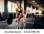 female athlete training with... | Shutterstock . vector #652678078