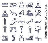 build icons set. set of 25... | Shutterstock .eps vector #652679416