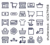store icons set. set of 25... | Shutterstock .eps vector #652679458