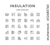 set line icons of insulation | Shutterstock .eps vector #652680760