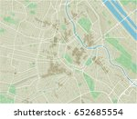 vector city map of vienna with... | Shutterstock .eps vector #652685554