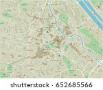 vector city map of vienna with... | Shutterstock .eps vector #652685566
