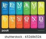 wall calendar for 2018 year.... | Shutterstock .eps vector #652686526
