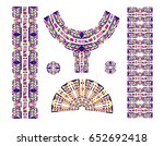 indian jewel. embroidery on... | Shutterstock .eps vector #652692418
