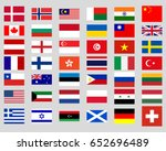 collection of flags of the world | Shutterstock . vector #652696489