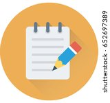 writing vector icon | Shutterstock .eps vector #652697389