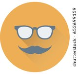 hipster vector icon | Shutterstock .eps vector #652699159