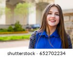 portrait of a beautiful girl in ... | Shutterstock . vector #652702234