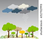 rainy day on natural background.... | Shutterstock .eps vector #652702993