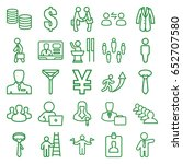 businessman icons set. set of... | Shutterstock .eps vector #652707580