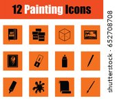 set of painting icons. orange... | Shutterstock .eps vector #652708708