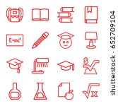 study icons set. set of 16... | Shutterstock .eps vector #652709104