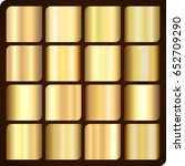 set of 16 realistic gold... | Shutterstock .eps vector #652709290