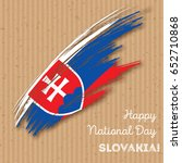 slovakia independence day...   Shutterstock .eps vector #652710868