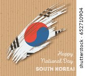 south korea independence day... | Shutterstock .eps vector #652710904