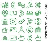 investment icons set. set of 25 ... | Shutterstock .eps vector #652713730