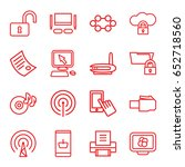 computer icons set. set of 16... | Shutterstock .eps vector #652718560