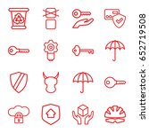 protect icons set. set of 16... | Shutterstock .eps vector #652719508
