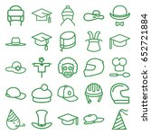 hat icons set. set of 25 hat... | Shutterstock .eps vector #652721884