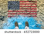 responsibility of usa on global ... | Shutterstock . vector #652723000