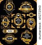 antique vector golden vintage... | Shutterstock .eps vector #65272543