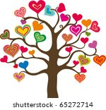 beautiful abstract heart tree... | Shutterstock .eps vector #65272714