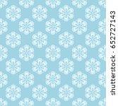 floral seamless pattern. blue... | Shutterstock .eps vector #652727143