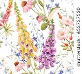 watercolor floral floral... | Shutterstock . vector #652727530