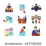 politics icon set | Shutterstock .eps vector #652730320