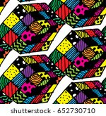 seamless pattern with cube.... | Shutterstock .eps vector #652730710