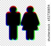 man and woman sign illustration.... | Shutterstock .eps vector #652730854
