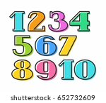 colored numbers with black... | Shutterstock .eps vector #652732609