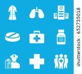 illness icons set. set of 9... | Shutterstock .eps vector #652735018