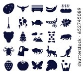 nature icons set. set of 25... | Shutterstock .eps vector #652745089