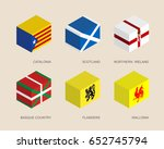 set of isometric 3d boxes with... | Shutterstock .eps vector #652745794